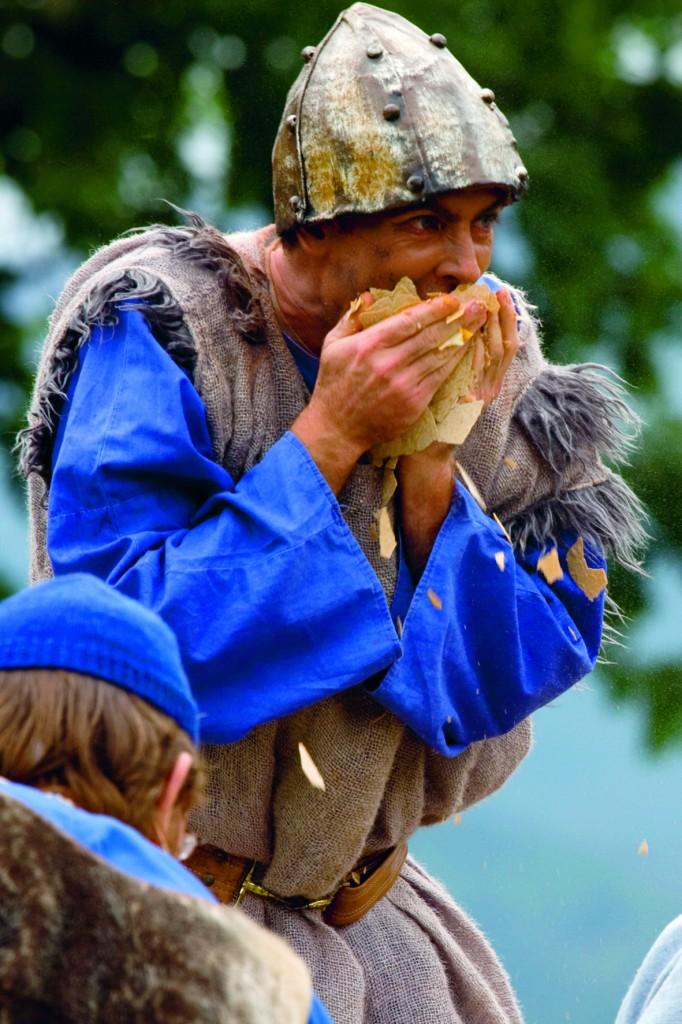 Kongsmennene tar seg til rette - Gaularspelet 2009